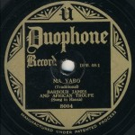 One of the 78 rpm discs identified in 2009