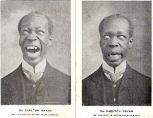 Carlton Bryan 'pulling a face' - 2 images from 1906