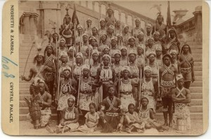 Dahomey Warriors, Crystal Palace, London c 1893