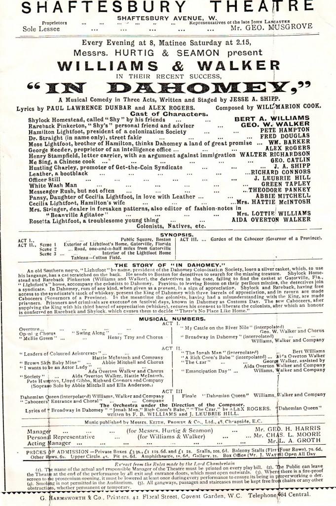 programme mid-June 1903