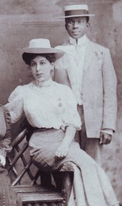 """Brown and Amelia """"Milly"""" Green, Skegness, 1906"""