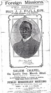 After leaving Cameroon Fuller was often seen at Baptist meetings in England