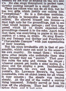 """The Times, 22 April 1921: """"they had had reality before them and it had gone"""""""