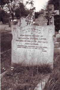The grave, Acton cemetery, west London