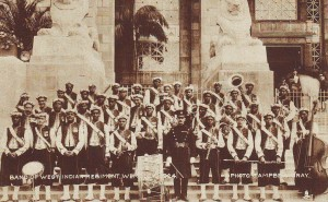 Thompson (right: string bass) West India Regiment, Wembley 1924