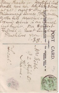 Mailed to Mrs Webb, 92 High Street, Thame